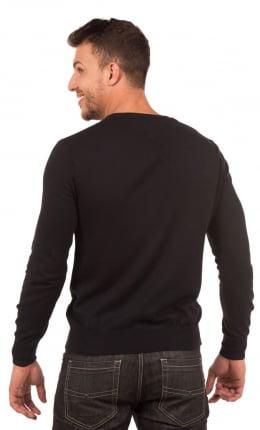 Suéter Masculino com Tranças Gola V 100% Algodão